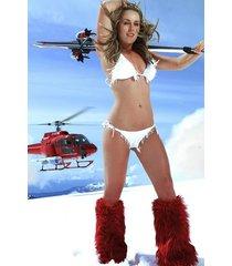 lindsey vonn  moutain bikini fuzzy boots  2.5 x 3.5 fridge magnet