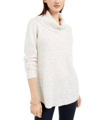 bcx juniors' flecked cowl-neck sweater