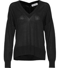 dida v-neck 5812 stickad tröja svart samsøe samsøe