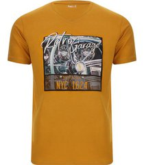camiseta hombre retro garage color amarillo, talla s