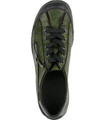 skor med snörning rieker grön