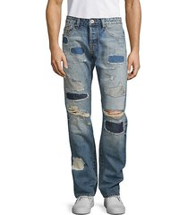 greaser slim straight distressed jeans