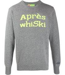 mc2 saint barth whi-ski blended cashmere mans sweater