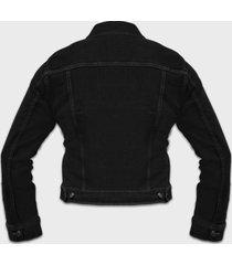 kurtka jeansowa damska czarna (bez nadruku)