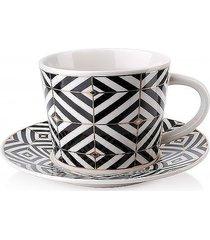 filiżanka ze spodkiem porcelana zoya i