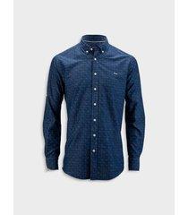 camisa denim silueta slim fit para hombre 08387