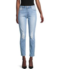 articles of society women's rene high-rise distressed cigarette jeans - santiago - size 27 (4)