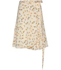 inger johanne knälång kjol gul fall winter spring summer