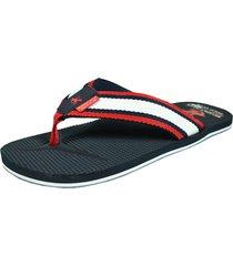 sandalia stripe navy para hombre