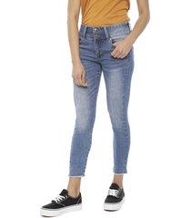 jeans il gioco kate cropped premium azul - calce ajustado