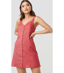 trendyol button detail mini dress - red