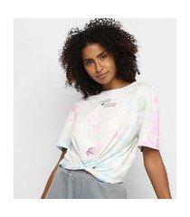 camiseta tie dye colcci amarração feminina