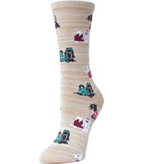 women's fancy dog scottish yorkshire terrier bamboo crew novelty socks