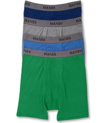 hanes platinum men's underwear, dyed boxer brief 4 pack
