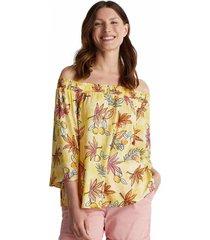 blusa estampada de flores amarillo esprit