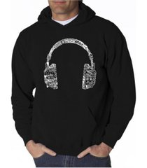 la pop art men's word art hoodie - headphones - music in different languages