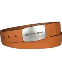 calvin klein jeans women's casual plaque buckle belt