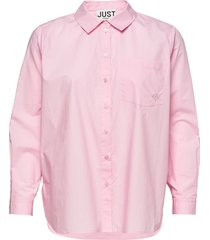 dallas shirt långärmad skjorta rosa just female
