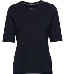 t-shirt 3/4-sleeve r t-shirts & tops short-sleeved blå gerry weber edition