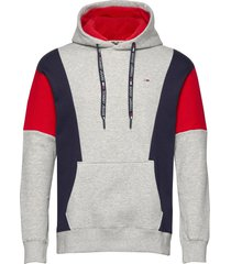 tjm colorblock hoodi hoodie trui grijs tommy jeans