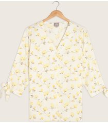 blusa manga tres cuartos estampada-14