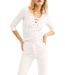 women's free people lace-up crop pullover