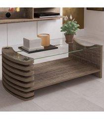 mesa de centro sonatta canela - artely