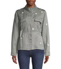 sahara daisey-print safari jacket