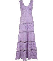 asuncion sleeveless v-neck lilac maxi dress