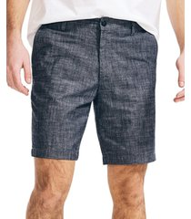"nautica men's classic-fit 8.5"" chambray shorts"