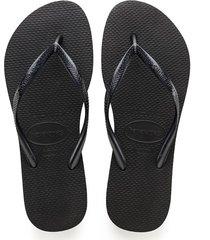 women's havaianas slim flip flop, size 35/36 br - black