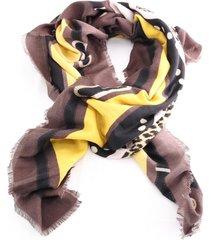 foulard liu jo logo animalier 269065 t0300 moro light