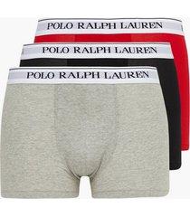 polo ralph lauren classic trunk 3-pack boxershorts heather