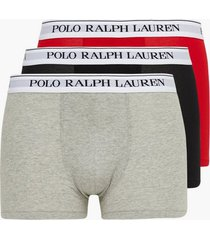 polo ralph lauren classic trunk 3-pack boxershorts heather