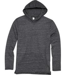alternative apparel charcoal eco jersey hoodie pullover charcoal