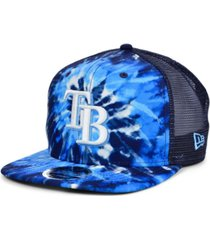 new era tampa bay rays tie dye mesh back 9fifty cap