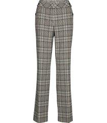 leisure trousers lon pantalon met rechte pijpen grijs gerry weber edition