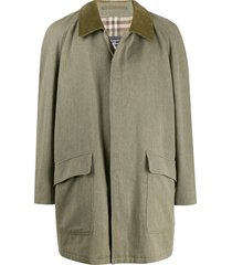 burberry pre-owned 1990s cutaway collar coat - green