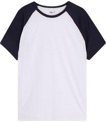 camiseta hombre manga ranglan color azul, talla m