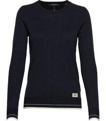 basic crewneck pullover stickad tröja svart scotch & soda