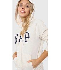 buzo beige gap logo