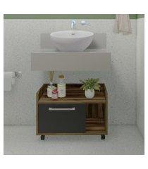 balcão para banheiro criando mobilia gb14 gabinete baixo 1 porta