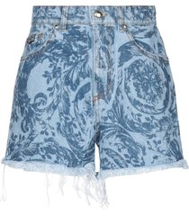 versace jeans couture denim shorts