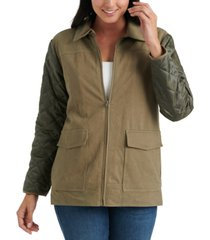 lucky brand quilted sherpa jacket