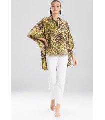 natori ombre animale, silky soft batwing blouse, women's, green, size s/m natori