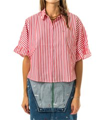 camicia tjw striped frill mouw blouse dw0dw08513.xnl