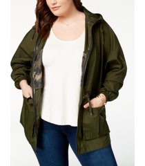 levi's trendy plus size crinkle fishtail windbreaker parka