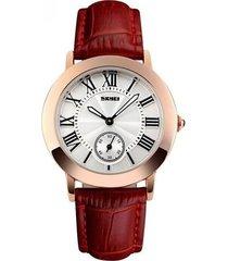 relojes casuales de cuarzo para mujer reloj retro con correa de cuero impermeable