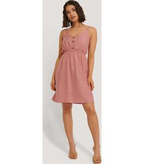 trendyol button detail mini dress - pink