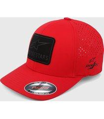 gorra rojo-negro alpinestars